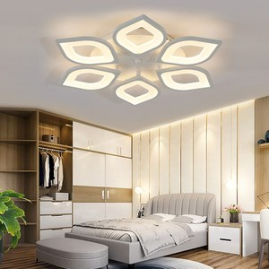 Image 3 - Moderna ha portato lampadari per soggiorno camera da letto sala da pranzo acrilico bianco di ferro del corpo Interno di casa lampadario infissi lampada