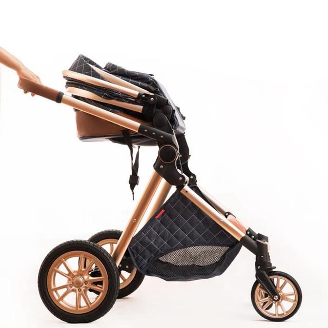 Transporte rápido frete grátis frete grátis carrinho de bebê alta paisagem nova 3in1 carrinho de bebê em 2021 3