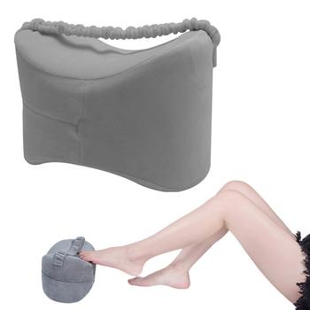 Ciąża Body z pianki Memory Knee Wedge poduszka do spania między nogami poduszka do bocznych podkładów wyrównaj kręgosłup rwa kulszowa Relief tanie i dobre opinie CN (pochodzenie) Dekoracyjne Stałe Poliester bawełna Pamięci Klasa a Klin 0-0 5 kg Orthopedic Knee Leg Wedge Pillow Pregnancy Body Memory Foam Pillow