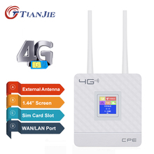 Tianjie Router WiFi 4G Unlocked MODEM LTE Ponsel Mini Saku Kartu SIM Hotspot 3G Wireless
