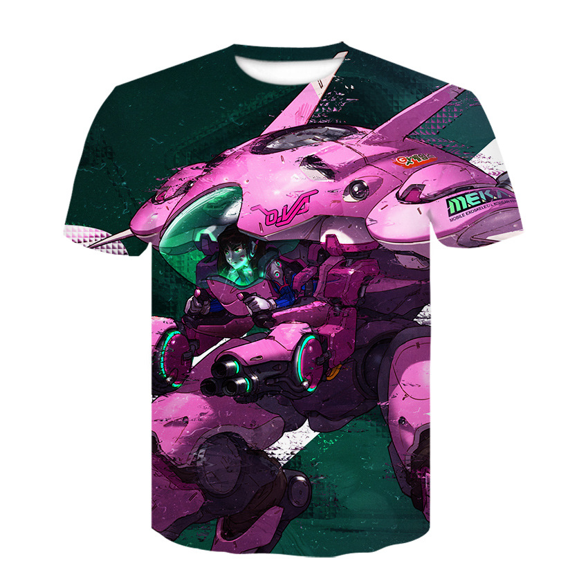 "Digital print short sleeve 3DT shirt, the latest ""Overwatch"" cosplay round neck short sleeve shirt fashion casual T-shirt 5"