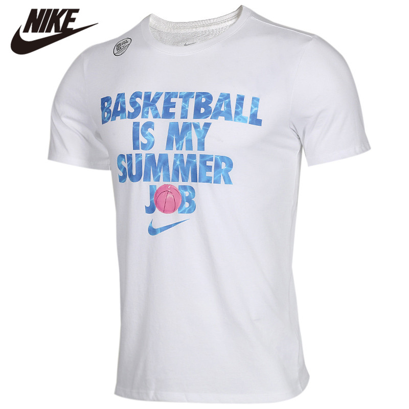 Original <font><b>NIKE</b></font> AS W NK JKT TRANSPRNT RD White Men <font><b>Tshirt</b></font> Short Sleeves Shirts image