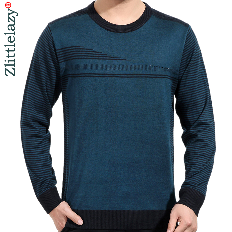 2019 Brand New Casual Thin Striped Knitted Pull Sweater Men Wear Jersey Dress Luxury Pullover Mens Sweaters Male Fashions 81010