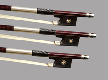 25pcs/lot 4/4 Carbon Fiber Violin Bow Top Braided
