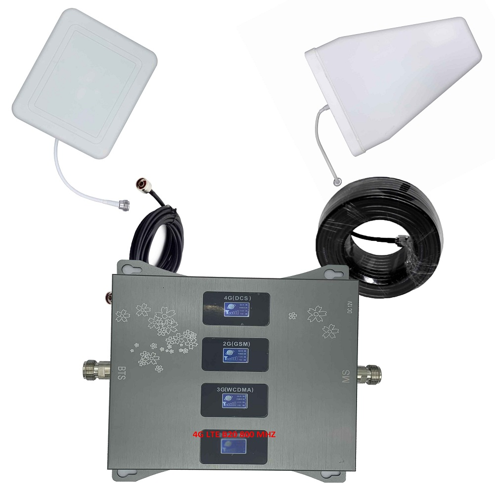 Band 20 4G LTE 800 900 1800 2100 Mhz Cell Phone Booster  Mobile Signal Amplifier 2G 3G 4G Cellular Repeater GSM DCS WCDMA
