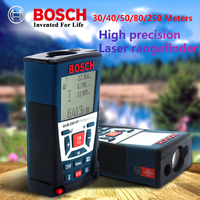 BOSCH-telémetro láser electrónico infrarrojo, herramienta de medición de ángulo de área de volumen para interiores y exteriores, 30/40/50/80/250 metros
