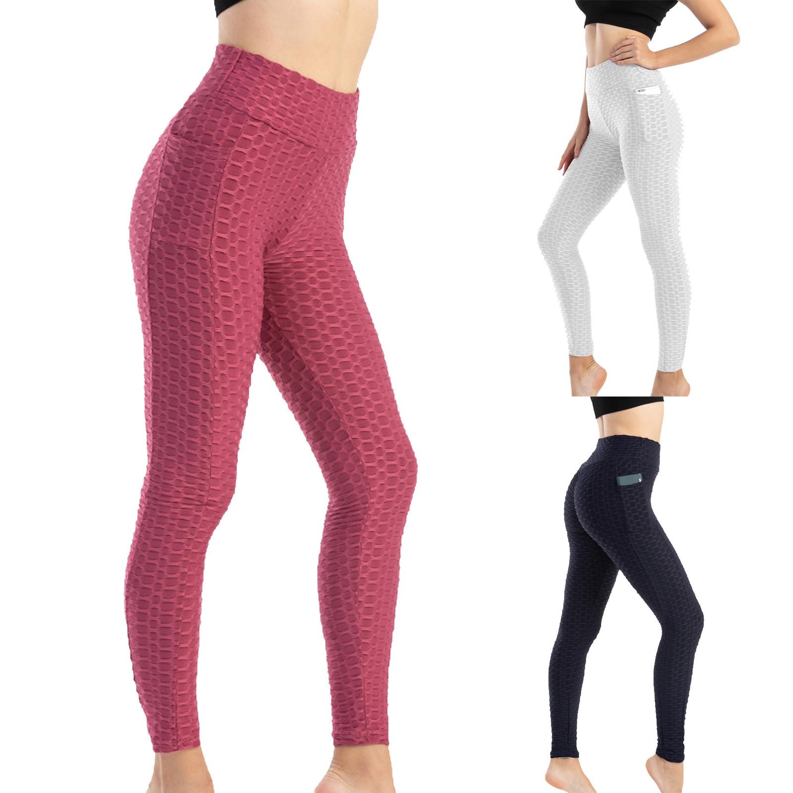 Бесшовные леггинсы с высокой талией, леггинсы с эффектом пуш-ап, спортивные женские штаны для фитнеса, бега, йоги, энергетические эластичные...