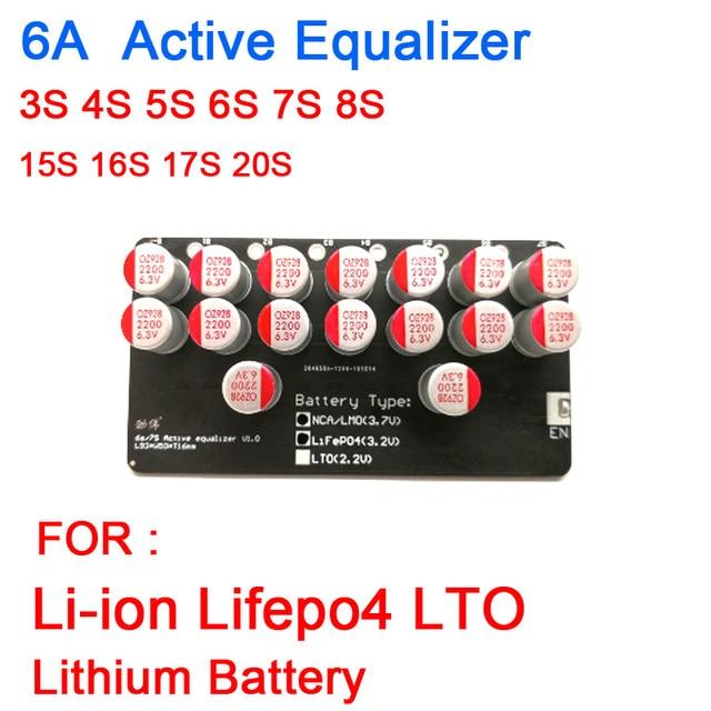 3 4 6 6S 7 7S 8 10S 13S 14S 16S 20S Active equalizer Balancer Lifepo4 แบตเตอรี่ลิเธียมLi Ion LTOแบตเตอรี่Energy Transfer BMS BALANCE BOARD