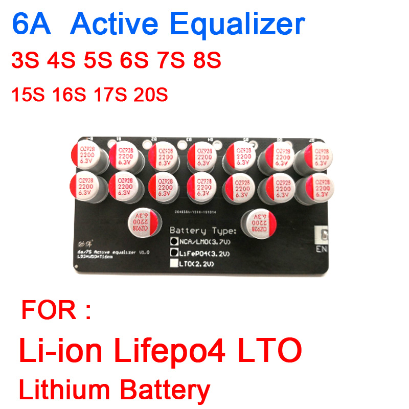 3S 4S 5S 6S 7S 8S 15S 16S 17S 20S Active Equalizer Balancer Lifepo4 Li-Ion LTO Lithium Battery Energy Transfer Balance Board