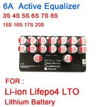 Equilibrador de litio Lifepo4, placa de equilibrio BMS 4S transferencia de energía, 3, 6S, 7S, 8S, 10S, 13S, 14S, 16S, 20S, Lifepo4