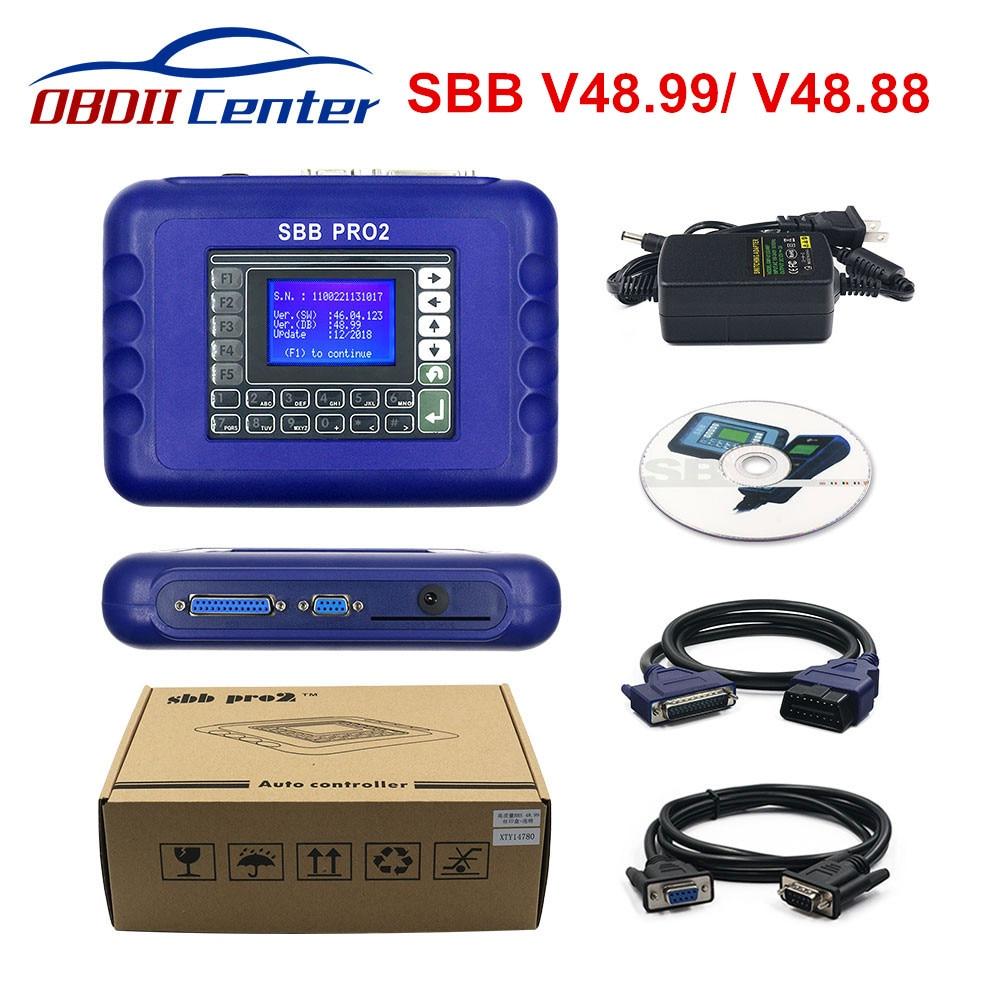 New Sbb V48 88 V48 99 Sbb Pro2 Obdii Key Programmer Auto Key Transponder Sbb Pro