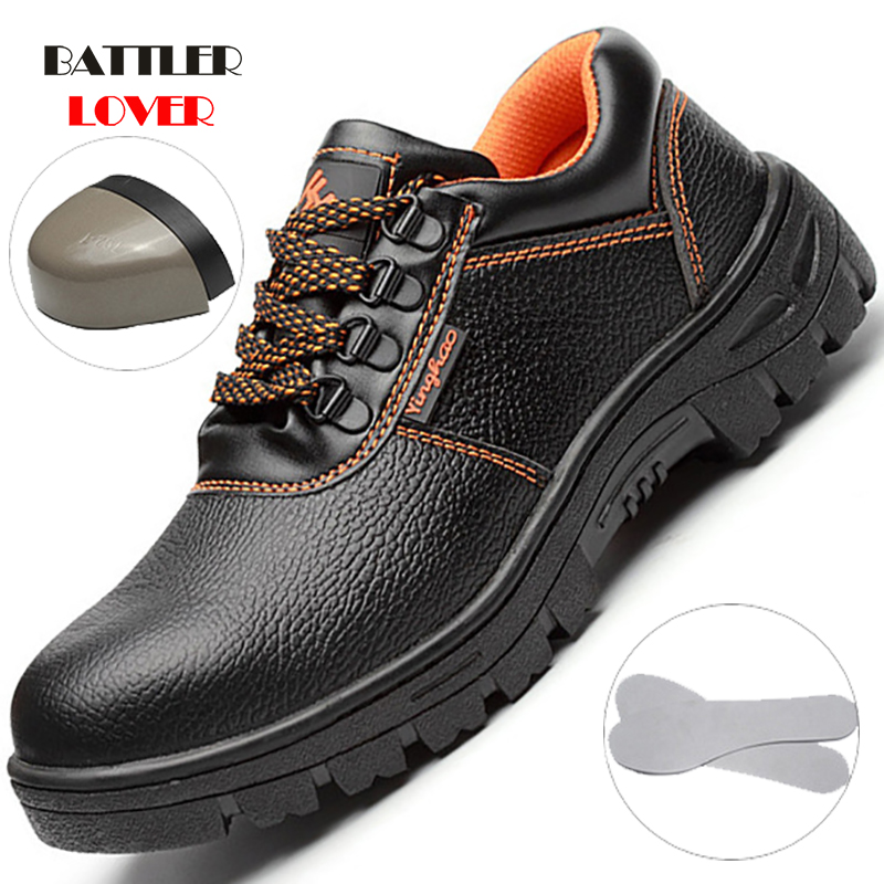 Mens Steel Toe Work Safety Boots Anti-smashing Anti-slip Steel Puncture Proof Construction Classical Men Work Shoes Unisex Botas