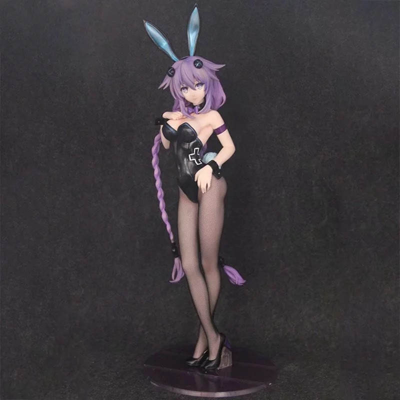 <font><b>1/4</b></font> <font><b>Sexy</b></font> Anime Beautiful Bunny Girl Purple Hair Ver. PVC 43 CM Hard Chest Action Figure Collectible Model Christmas Toy BOX D704 image