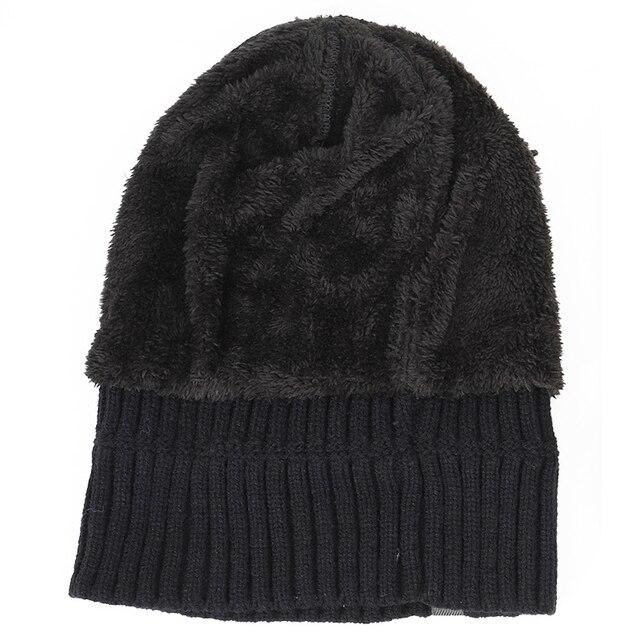 winter men's hat letter label velvet thick 5