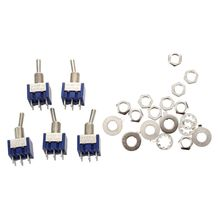 цена на 5pcs 3 Position 2P2T DPDT ON-OFF-ON Miniature Mini Toggle Switch