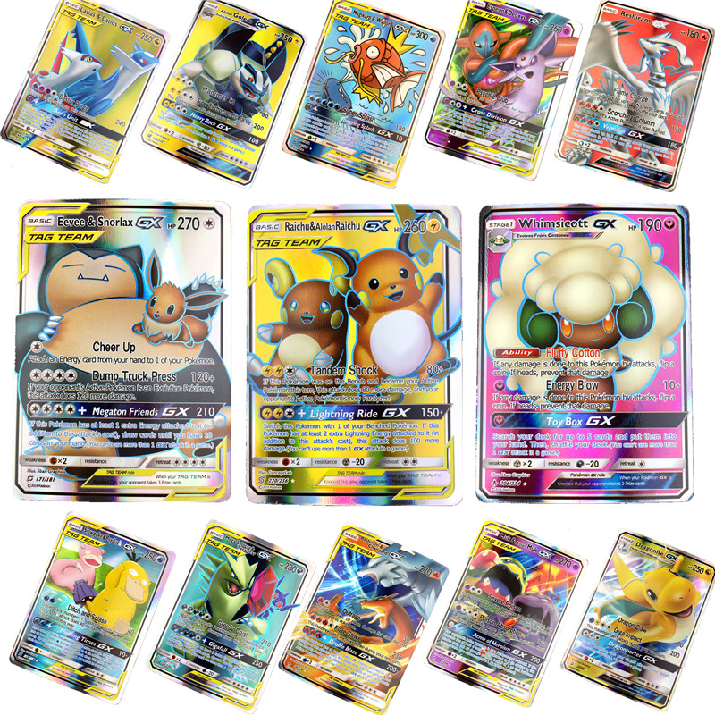 100 200Pcs English  Pokemones  Cards Toys Card Game Battle Carte Trading Energy Charizard Collection Card Toy