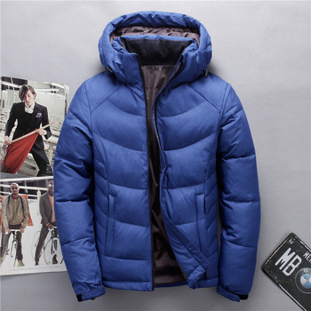 Casual Men's winter jacket high quality white duck down coat men thermal windproof thick keep warm down jacket male parka coats