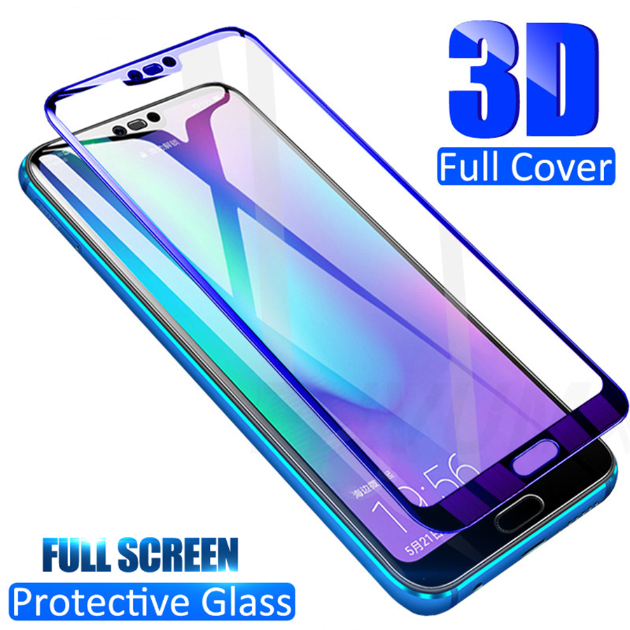 3D Tempered Glass On The For Huawei Honor View 20 10 V20 V10 Screen Protector For Honor 10 9 8 Lite V9 V8 Full Cover Glass Film