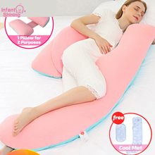 Pregnant-Pillow Maternity with Cool-Mat 2-In-1 150CM Stomach Waist-Support Shining Infant
