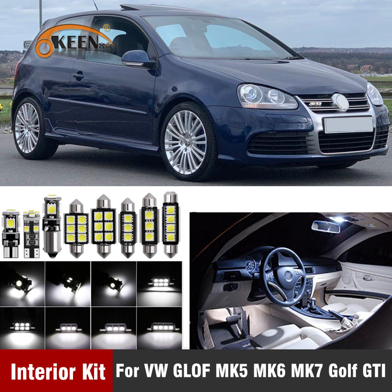 12pcs Car <font><b>LED</b></font> Bulb for VW <font><b>Golf</b></font> MK5 MK6 MK7 2004+ Canbus Auto <font><b>Led</b></font> Interior <font><b>Light</b></font> kit for Volkswagen <font><b>Golf</b></font> <font><b>5</b></font> 6 7 2004+ Dome <font><b>light</b></font> image
