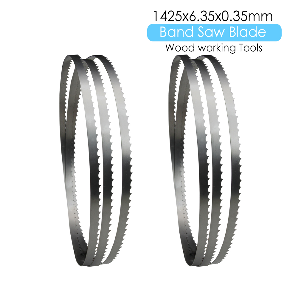 2pcs Band Saw Bandsaw Blade 1425 X 6.35 X 0.35mm Woodworking Tools For Wood Cutting TPI 6 10 14