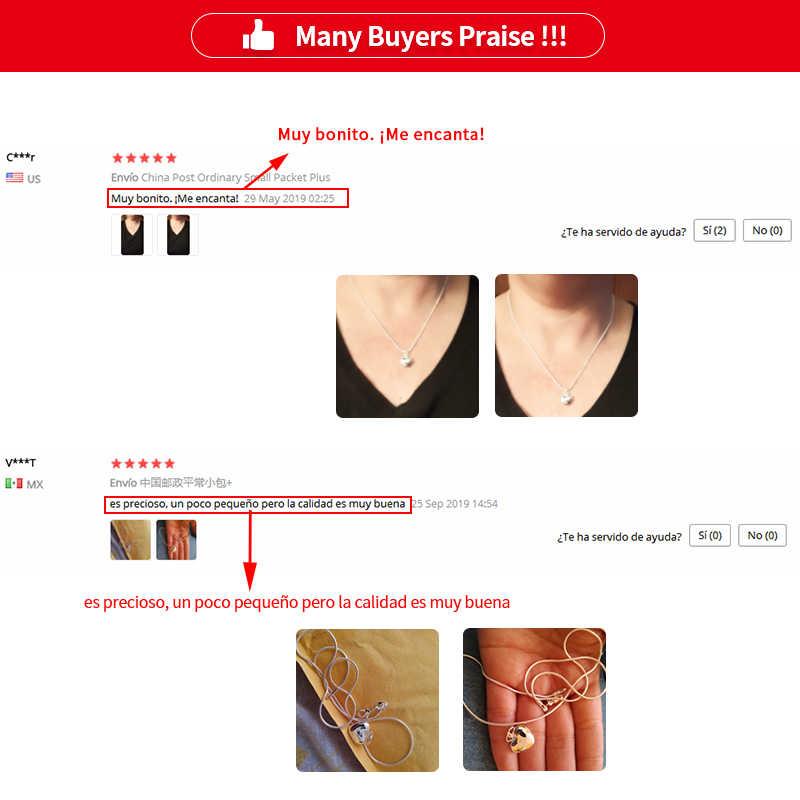 Großhandel 925 Silber Farbe Halskette Mode Neue Schmuck Herz Anhänger Halskette Für Frauen Mädchen Geschenke