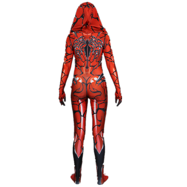 Red Carnage Venom Scarlet blood Gwen Stacy Cosplay Costume Zentai Superhero Bodysuit Suit Jumpsuits
