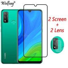 Cola completo Protetor de Tela de Vidro Temperado Para Huawei P 2020 Inteligente Para Huawei P Inteligente 2020 Câmera De Vidro Huawei P inteligente 2020 de Vidro