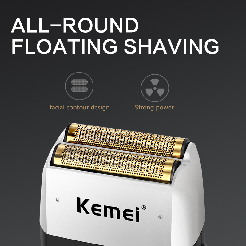 Kemei Rechargeable Electric Shaver LCD Display Portable Waterproof Reciprocating Cordless Men Reciprocating Razor Beard Trimmer 2