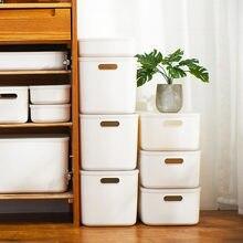 Kunststoff Lagerung Box Schreibtisch Lagerung Boxen Mit Deckel Große Kapazität Lagerung Box Kosmetische Schmuck Finishing Boxen