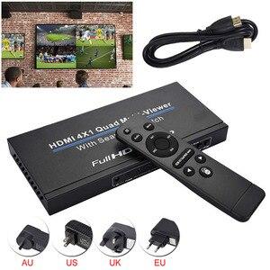 3D 1080P HDMI 4x1 Quad мультипросмотрщик HD видео Поддержка 5 режимов Переключатель бесшовный мультипросмотрщик переключатель ИК-экран сплиттер конв...