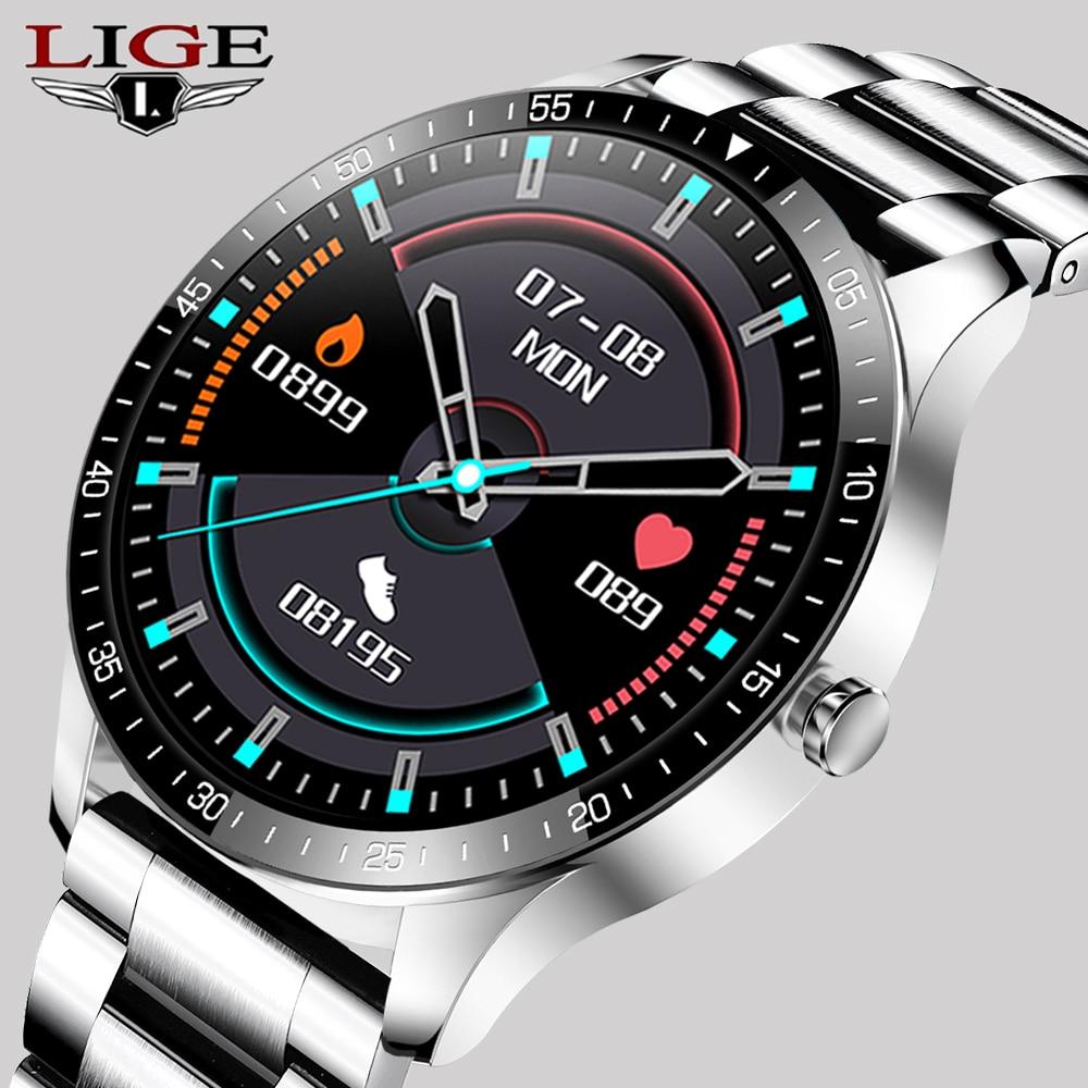 """LIGE New Smart watch Men waterproof 1.3"""" Full touch screen Sports Smart watch heart rate Fitness tracker Men Smart Watch Women 1"""