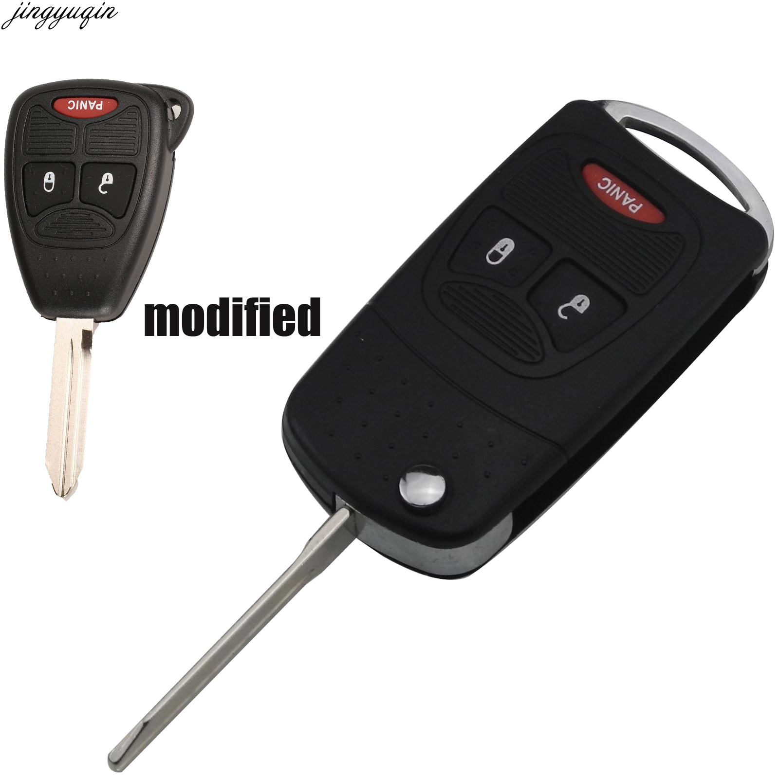 New Remote Chrysler Dodge Key Keyless Fob Replacement Case Button Pad Battery