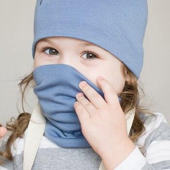 100% Merino wool thermal kids tube scarf Headbands boys girls outdoor ring neckerchief collar muffler