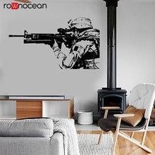 Modern War Theme US Soldier Marine Seal Military Wall Sticker Vinyl Home Decor Design Decals Murals Boys Room Poster 3637