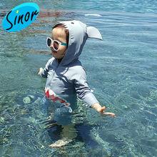 Корейский цельный купальный костюм для детей с милым рисунком