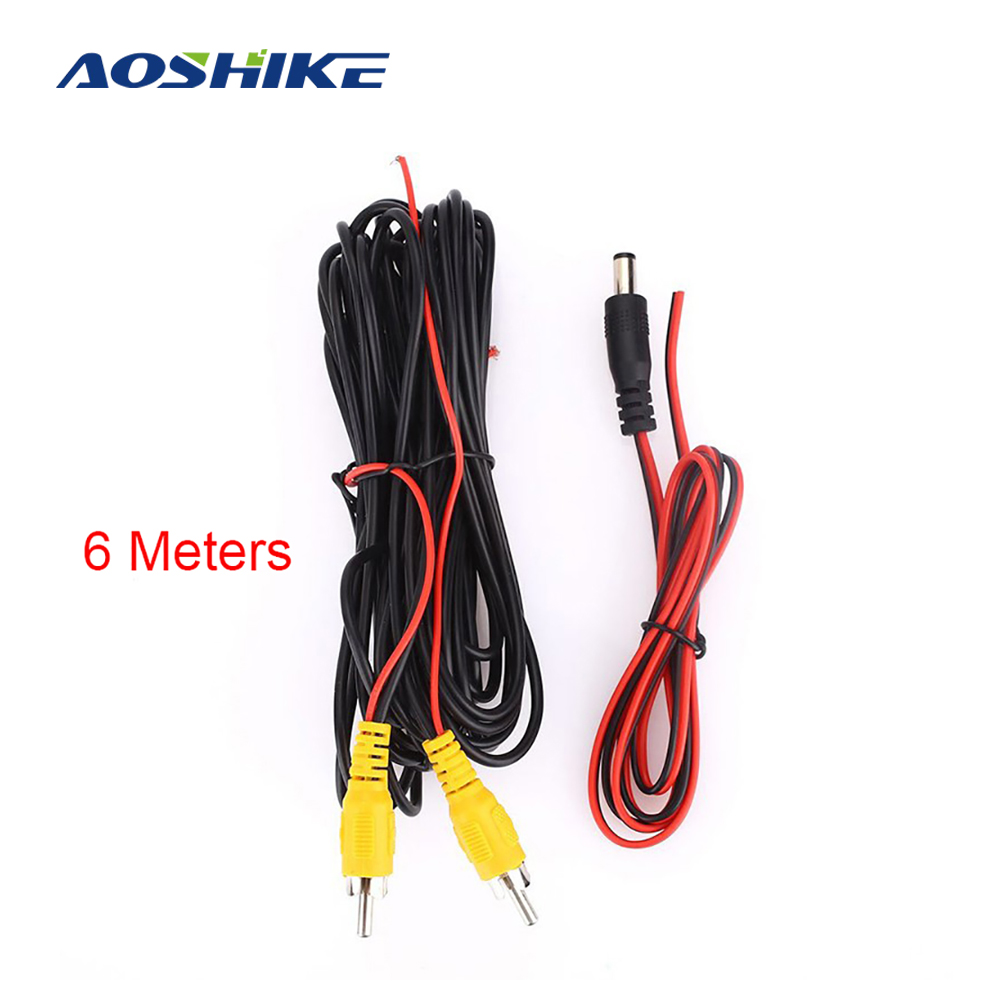 AOSHIKE RCA 6m Video Cable For Car Rear View Camera Universal 6 Meters Wire For Reverse Camera With Car Multimedia Monitor 2020
