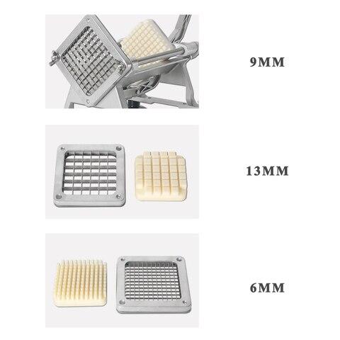 Lâminas de Aço Inoxidável Batatas Fritas Cortador Batata Corte Peças Cabeça Rabanete Pepino Lâmina Máquina Ferramenta Cozinha 3
