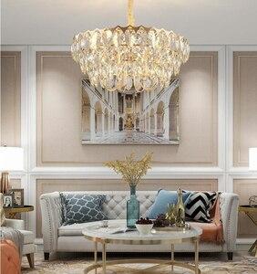 Image 2 - 크리스탈 샹들리에 거실 럭셔리 현대 빌라 간단한 크리 에이 티브 디자이너 미국 침실 식당 램프