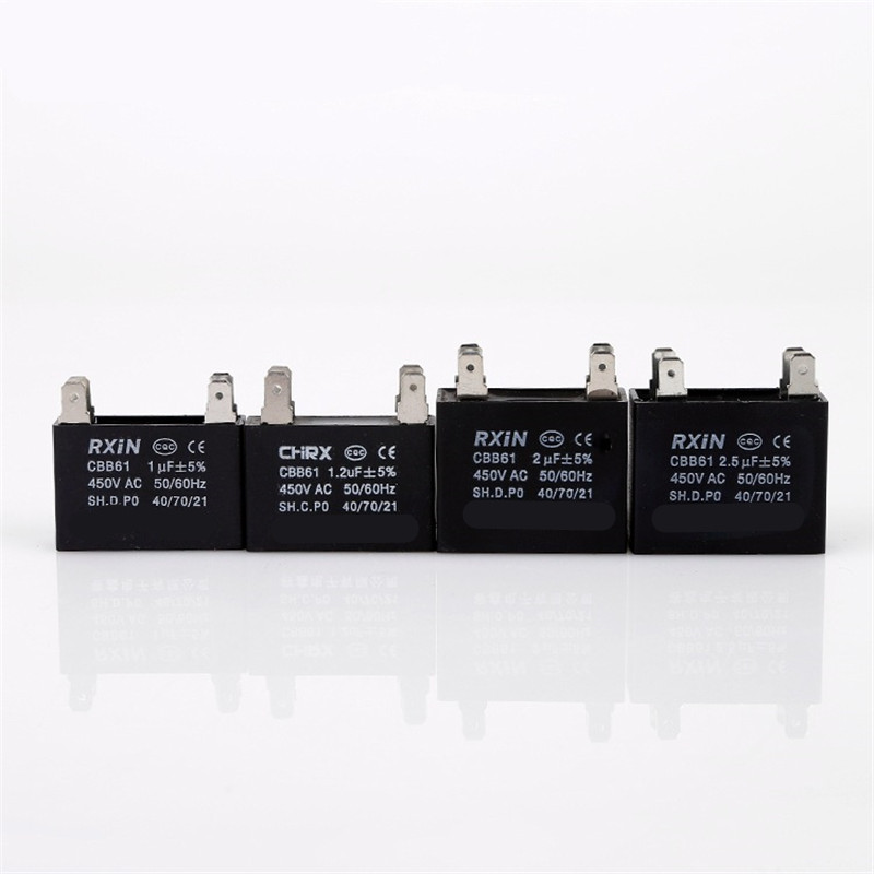 1pcs CBB61 starting capacitance AC Fan Capacitor 450V AC 1uF/1.2uF/ 2uF/2.5uF/3uF 50/60Hz Motor Run Capacitor 400/350/300/250VAC