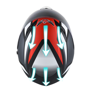 Image 5 - Smart Moto rcycle Helm LED licht Professionelle Volle Gesicht casco moto Racing Helm DOT Off Road Moto cross Helm Accessrioes