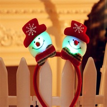 Funny LED Flashing Headband Light Up Hair Band for Christmas Holiday Decoration Party Accessory BIG GIRL Christmas Gift