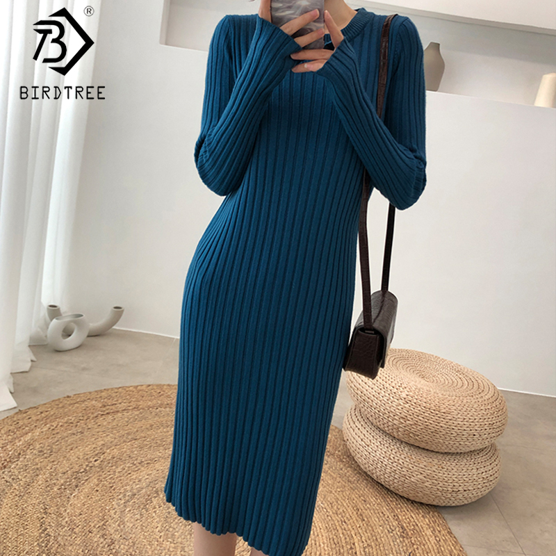 2020 Spring Long Fashion Western Style Knitted Skirt Sweater Vest Knitted Pullover Dress Two Piece Suit Women S9D849M