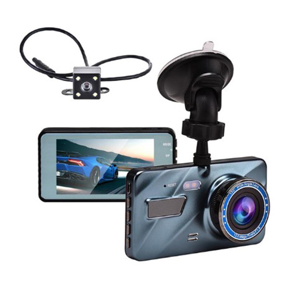 J16 Car HD 1080P DVR Driving Recorder Rear View Dual Lens Camera Dash Cam Blue New Charger 200mA Blue