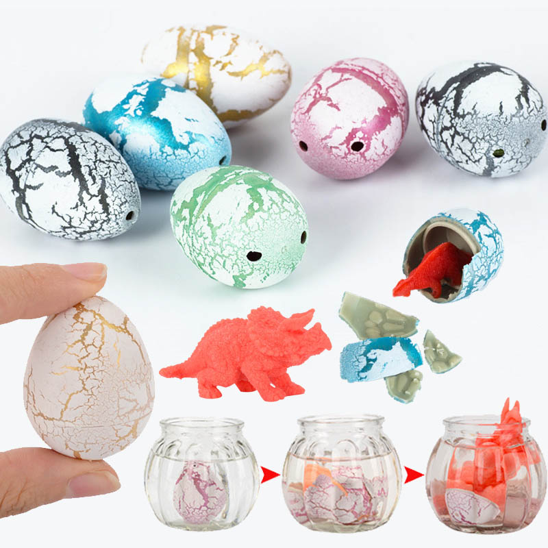 10pcs Novelty Gag Toys Children Toys Cute Magic Hatching Growing Animal Dinosaur Eggs For Kids Educational Creative Toys Gifts