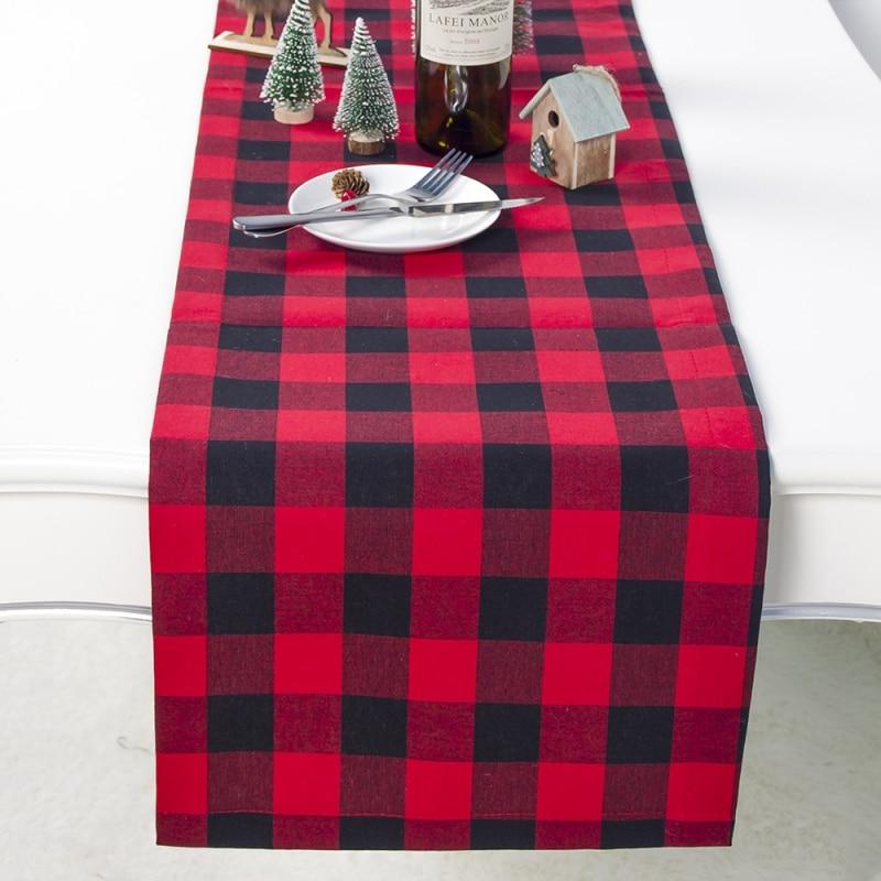 Рождественская скатерть изоляционный коврик ткань в клеточку лося маленький рисунок дерева моющиеся коврики для стола хлопковые
