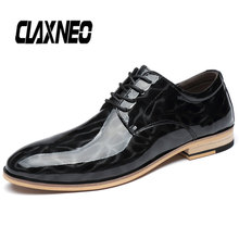 Buy CLAXNEO Man Shoes Genuine Leather Design Male Oxfords Patent Leather Shoe Casual Walking Footwear Big Size directly from merchant!