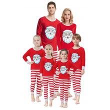Family Christmas Pajamas Sets Casual Santa matching Outfits Warm Kids Adult Xmas Sleepwear pijama navidad familia