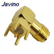 цена на SMA female Thru Hole plug Right Angle 90 DEGREE ( SMA-KWE ) PCB Mount connector RF adapter best quality.