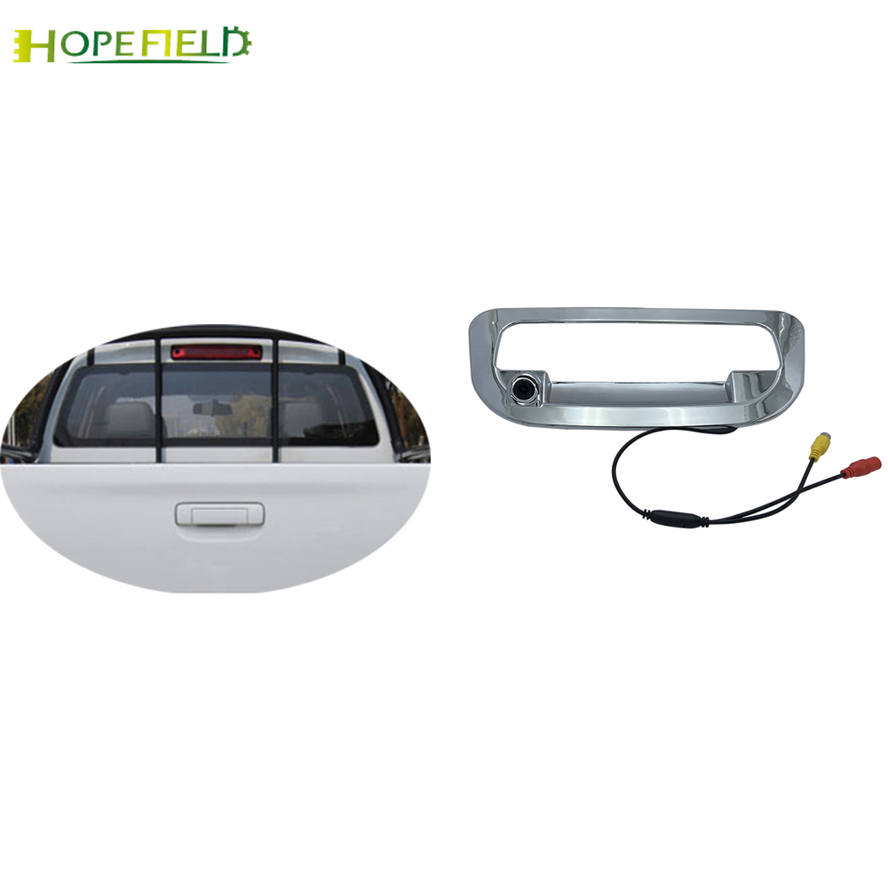 For ISUZU D-MAX DMAX Rear Door Switch Cover With Rear View Parking Backup HD Camera Tailgate Handle Covers image